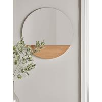 Oak Slice Mirror - Round