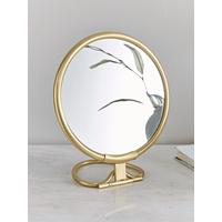 French Vanity Mirror - Brass