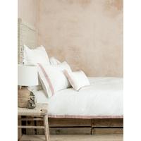 NEW Cotton & Linen Housewife Pillowcase Pair - Vintage Rose