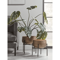 NEW Two Soft Gold Standing Planters
