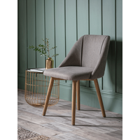 NEW Two Upholstered Dining Chairs - Grey