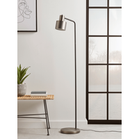 Lewes Floor Lamp - Burnished Silver