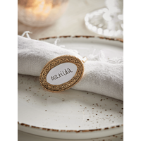 NEW Six Name Place Napkin Rings