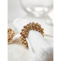 NEW Four Golden Bells Napkin Rings
