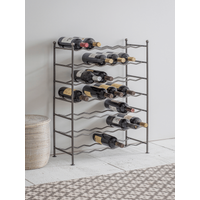 Raw Steel Wine Rack