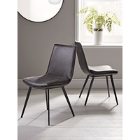 Two Williamsburg Dining Chairs - Carbon