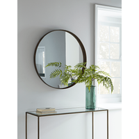 Round Burnished Frame Mirror