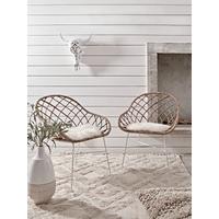 Round Rattan Open Weave Chair