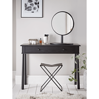 Bergen Oak Dressing Table - Black