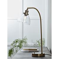 Domed Glass Desk Lamp - Brass