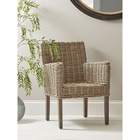Round Rattan Carver Chair