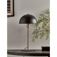 Black & Brass Rounded Desk Lamp