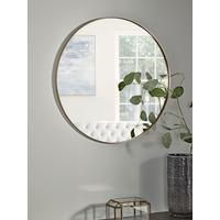 Antique Brass Slim Frame Round Mirror - Medium
