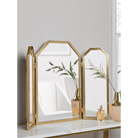 Brass Folding Dressing Table Mirror