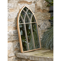 Small Gold Gothic Outdoor Mirror