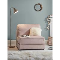 Single Hideaway Bed - Blush Velvet