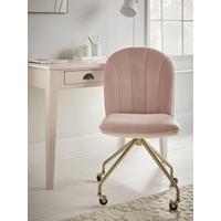 NEW Fluted Office Chair - Blush Velvet