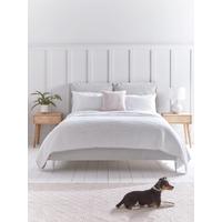 NEW Pillowy Velvet Kingsize Bed - Soft Grey