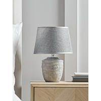 Ribbed Concrete Effect Table Lamp