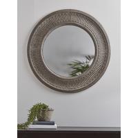 NEW Indoor Outdoor Round Textured Mirror