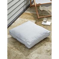 Indoor Outdoor Square Floor Cushion - Soft Grey
