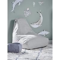 NEW Indoor Outdoor Kids Beanbag - Soft Grey