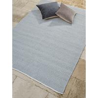 NEW Indoor Outdoor Herringbone Reversible Rug - Soft Blue
