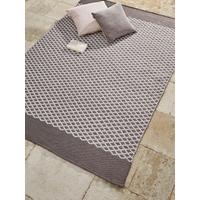 NEW Indoor Outdoor Diamonds Reversible Rug - Grey