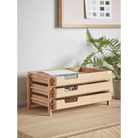 NEW Tiered Oak Desk Tray