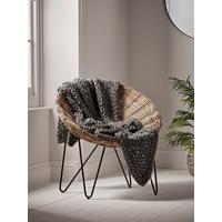 Round Rattan Cone Chair