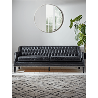 NEW Leather Buttoned Sofa