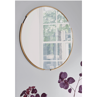 NEW Round Broken Framed Mirror
