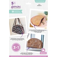 'Gemini Multi-function Multi-media Die Set - Set 2 Cosmetic Bag/mini Bowling Bag/crescent Clutch Bag
