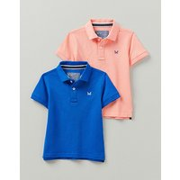 Crew Clothing Boys 2 Pack Classic Pique Polo Shirts