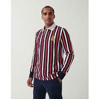 Crew Clothing Henley University Stripe Rugby Shirt