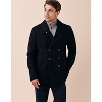Reefer Wool Jacket In Dark Navy