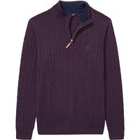 Lambswool Cable Half Zip Knit