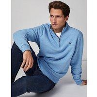 Classic Half Zip Sweatshirt In Sky Blue