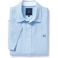 Herne Short Sleeve Linen Shirt In Classic Blue