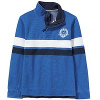 Crested Padstow Pique Sweatshirt In Marine Blue