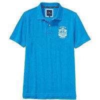 Helston Crested Pique Polo Shirt In Salcombe Blue