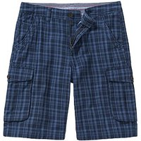 Westdale Check Cargo Shorts In Navy