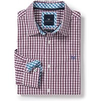 Crew Classic Fit Gingham Shirt in Washed Plum