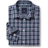 Westleigh Classic Fit Check Shirt in Bottle Green