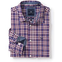 Westleigh Classic Fit Check Shirt in Washed Plum