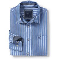 Solway Classic Fit Stripe Shirt in Marine/Optic White