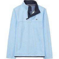 Crew Clothing Padstow Pique Sweatshirt in Cool Blue