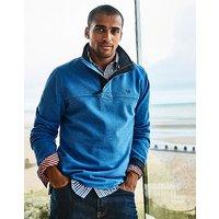 Padstow Pique Sweatshirt in Lapis Blue