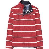 Crew Clothing Padstow Pique Sweatshirt in Crimson Red