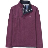 Crew Clothing Padstow Pique Sweatshirt in Washed Plum
